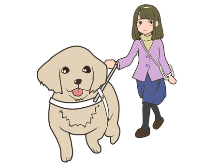 Guide dog and girl