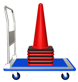 Truck and color cone