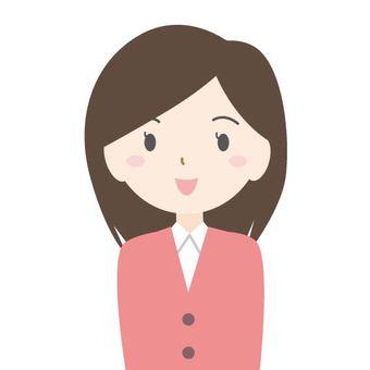 여성 _ 미소
