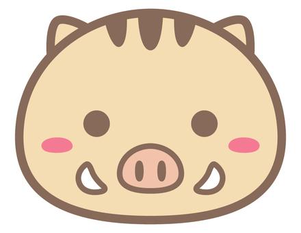 丸っこい猪_正面