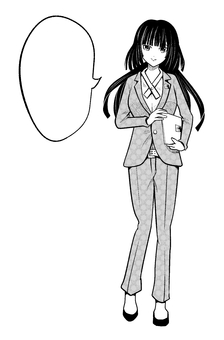 Cartoon speech bubble businessman woman