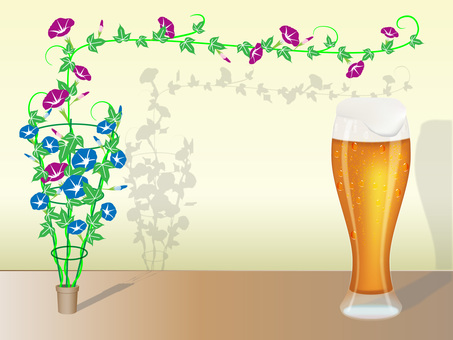 Beer and morning glory No 1
