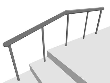 Handrail (with Naname and ground)