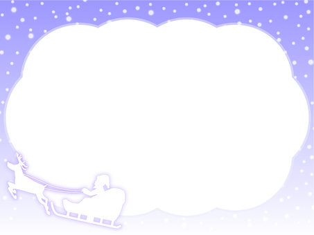 Winter sky Christmas frame 4