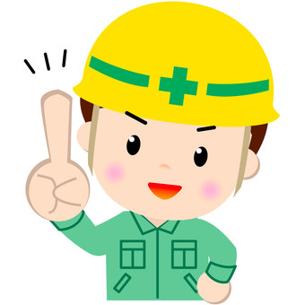 Construction worker _ Waist upper part (check)