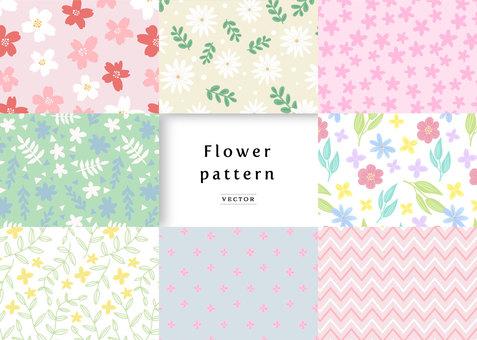 Pattern material 053 flower pattern