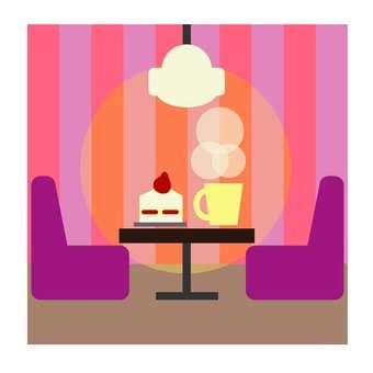 Cake and drinks · cafe