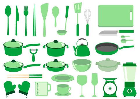 Kitchen appliances Green