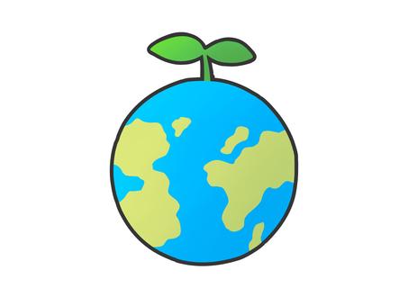 Earth eco image eco mark material