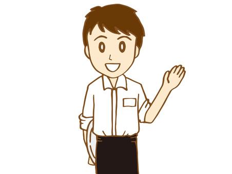 Cafe clerk (male)