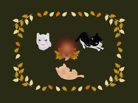Autumn cat end meeting