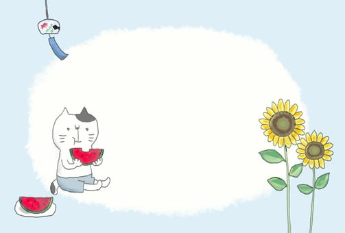 Summer greetings for cats