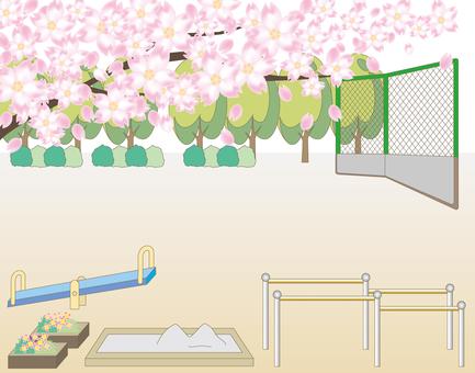 Scenery of cherry blossoms · Playground · Park