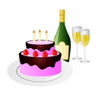 Cake and liquor