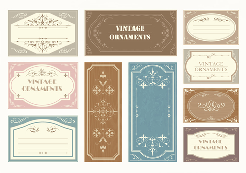 Vintage Ornament Set 03