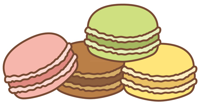 4 color macaroons