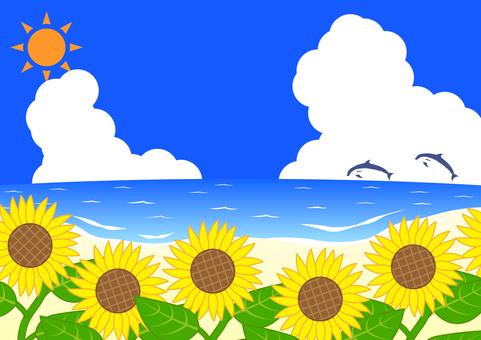 海和向日葵