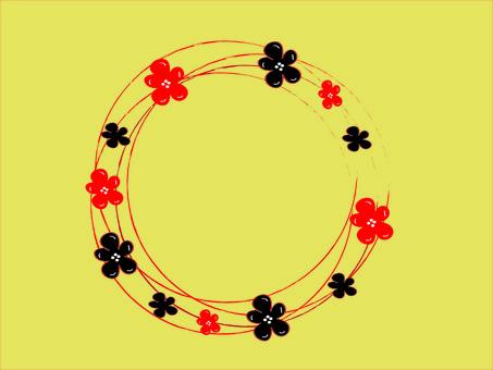 日本花框架