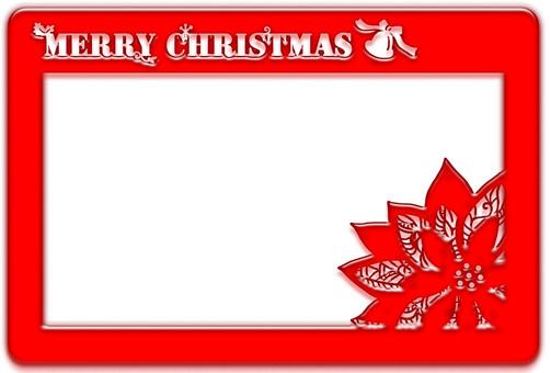 Christmas card · poinsettia