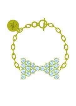 Ribbon motif bracelet