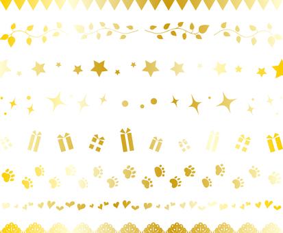 Line frame set gold