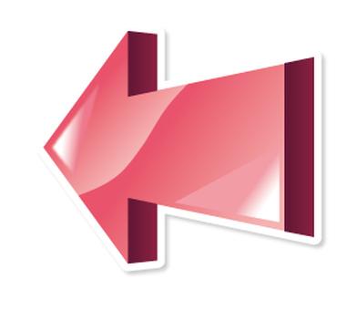 3D Arrow _ Icon _ Pink _ Left facing