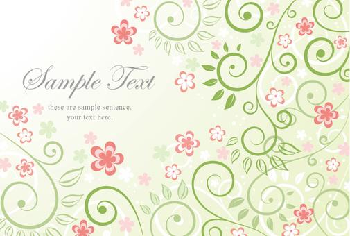 Flower postcard background