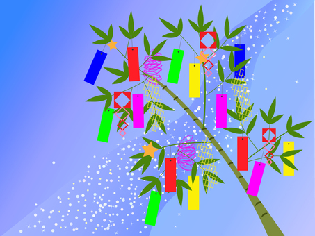 Tanabata decoration and the Milky Way