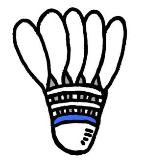 Badminton feathers