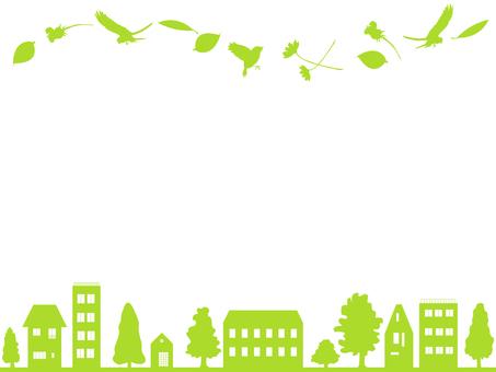Pássaros e flores e o quadro da cidade 3