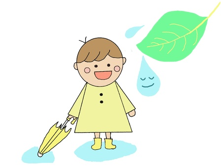 Rain Baiu Children Children