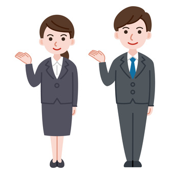 Men and women in suits