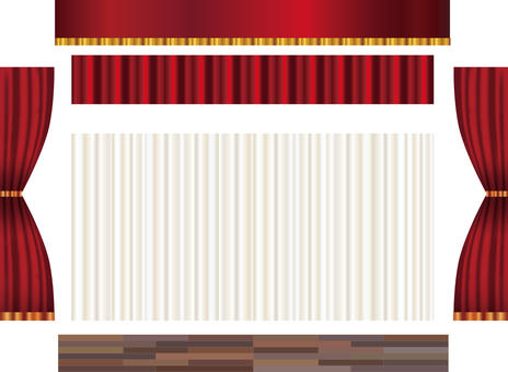 Curry drape curtain background material frame frame picture