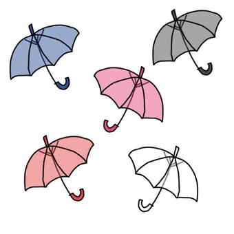 Colorful vinyl umbrella