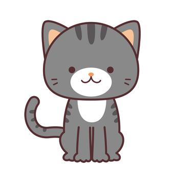 猫 グレー 縞模様1