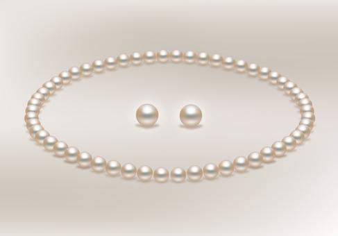 珍珠項鍊和耳環