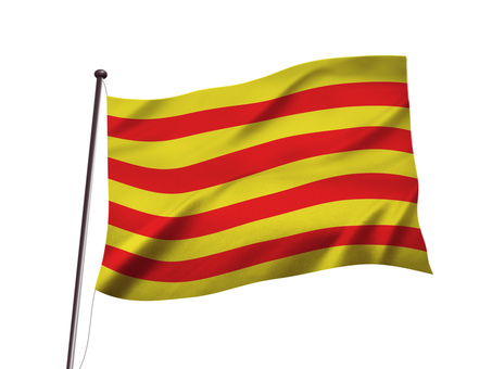 Image of independence flag of Catalonia