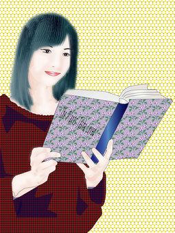 A woman reading 04