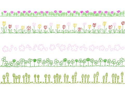 Line spring flowers