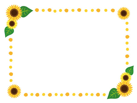 Sunflower frame _ yellow _ 01