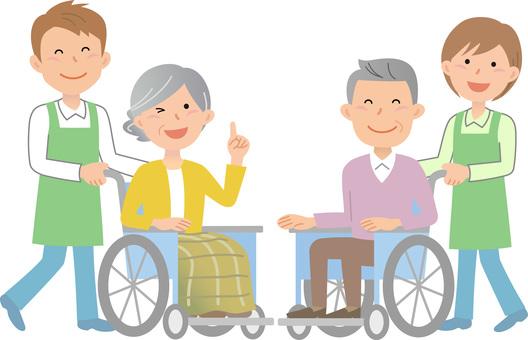 70912.轮椅,护理人员4