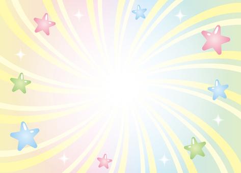 Pop background of glitter stars (Rainbow)