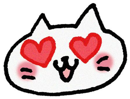 Heart cat (face)