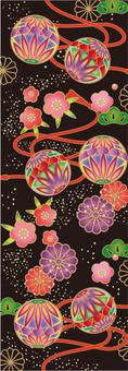 Japanese ball pattern texture