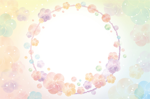 Watercolor wind plum flower background