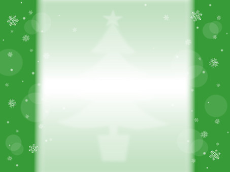 Snow crystal and Christmas tree green series
