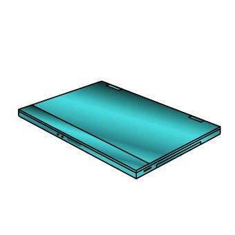 Closed laptop computer (blue)