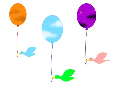 Balloon and three bird version