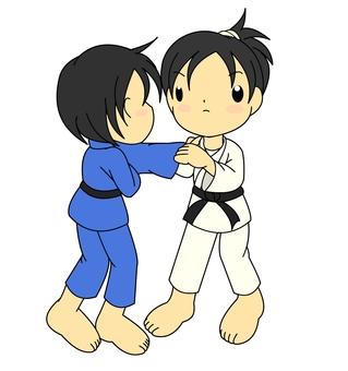 Judo woman green