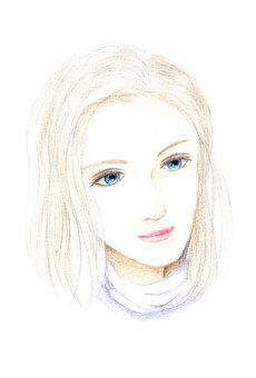 藍眼睛的女人